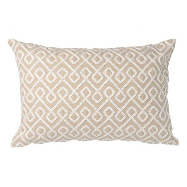 Umbria Cushion with Feather Insert, Ecru