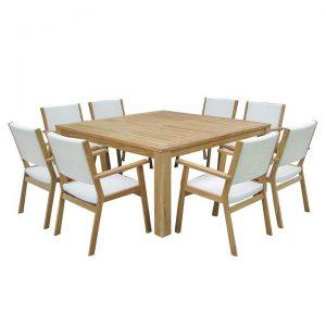 Walla 9-Piece Outdoor Dining Set, Square