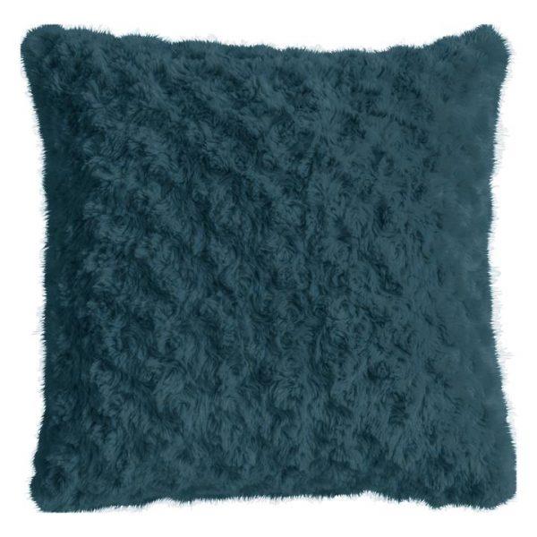 Walon Faux Fur Scatter Cushion, Teal