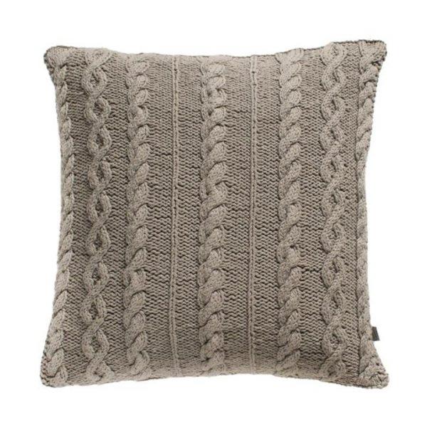 Walton Cable Knit Cotton Cushion, Natural
