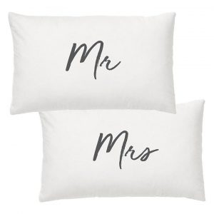Wedding Mr & Mrs Pillow Case (Set of 2)