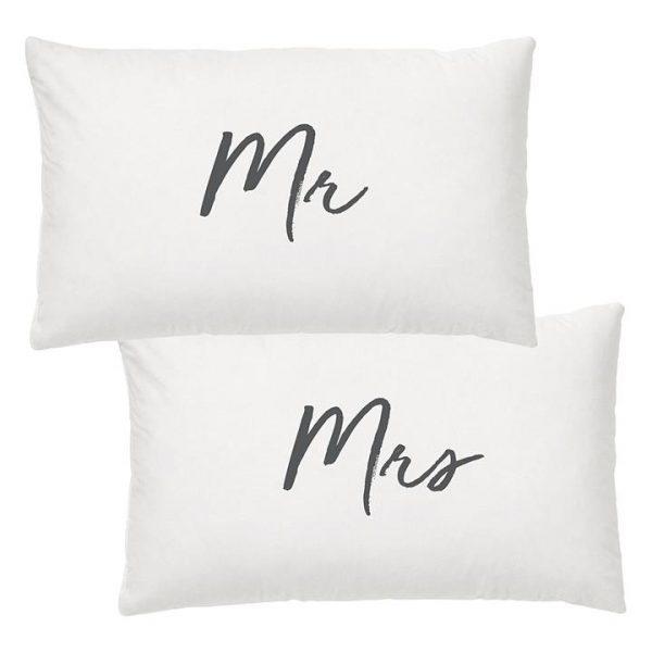 Wedding Mr & Mrs Pillow Case (Set of 2)