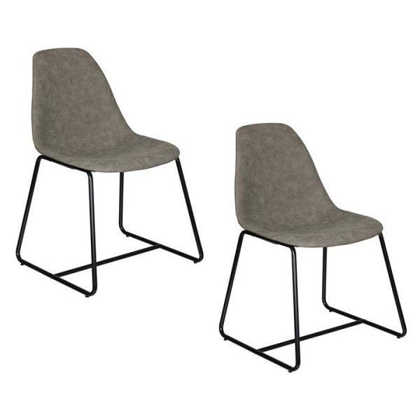 Wells Dining Chair, Grey (Set of 2)