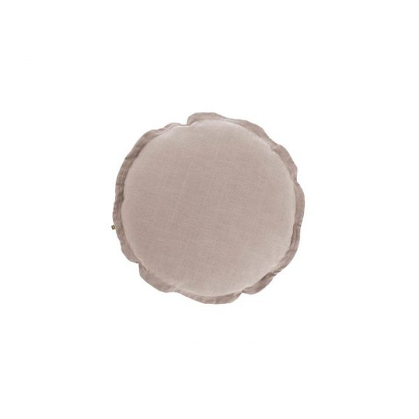 Whitman Round Linen Blend Cushion, Pink