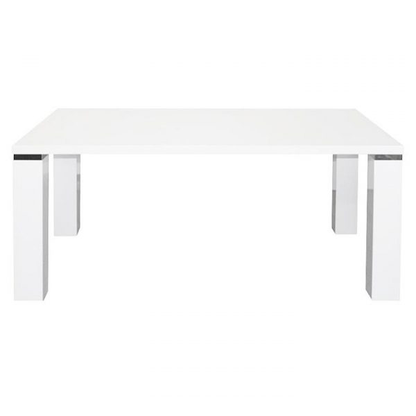 Whitney Chunky Dining Table, 210cm, White