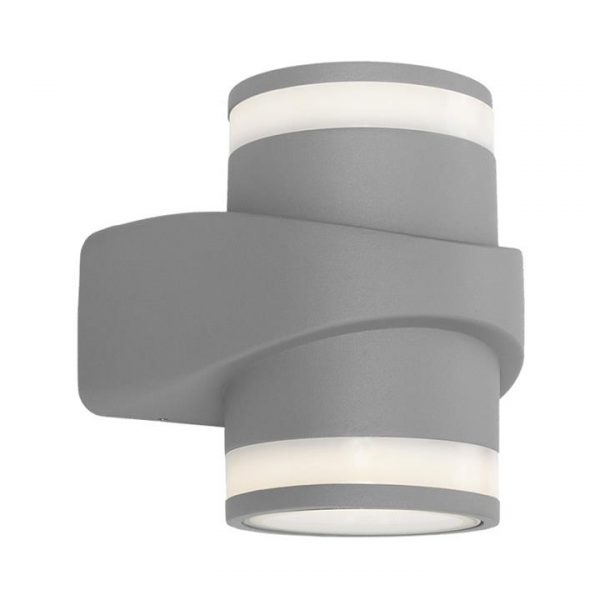 Yukon IP54 Outdoor UP / Down LED Wall Light, Silver