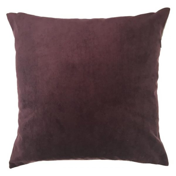 Zandra Velvet Euro Cushion, Fig