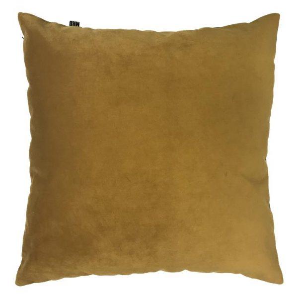 Zandra Velvet Euro Cushion, Turmeric
