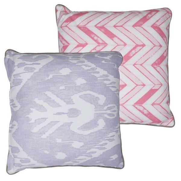 Zulu Lilac & Chalk Cushion