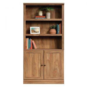 5-Shelf Bookcase with Doors Sindoori Mango