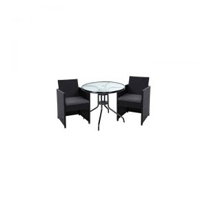 Aprila Outdoor 3-Piece Dining Chair and Table Set