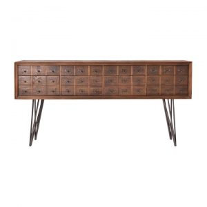 Carville Recliamed Fir Timber Pharmacy Drawer Sideboard, 180cm
