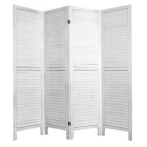 Cornellio Room Divider, White, 4 Panels