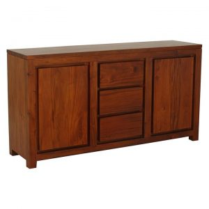 Hague 2 Door Timber Buffet, Pecan
