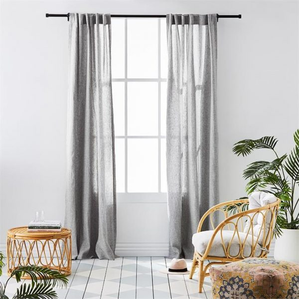 Home Republic Vintage Washed Linen Curtains W125xL240cm Grey Marle Set of 2 - Greymarle By Adairs