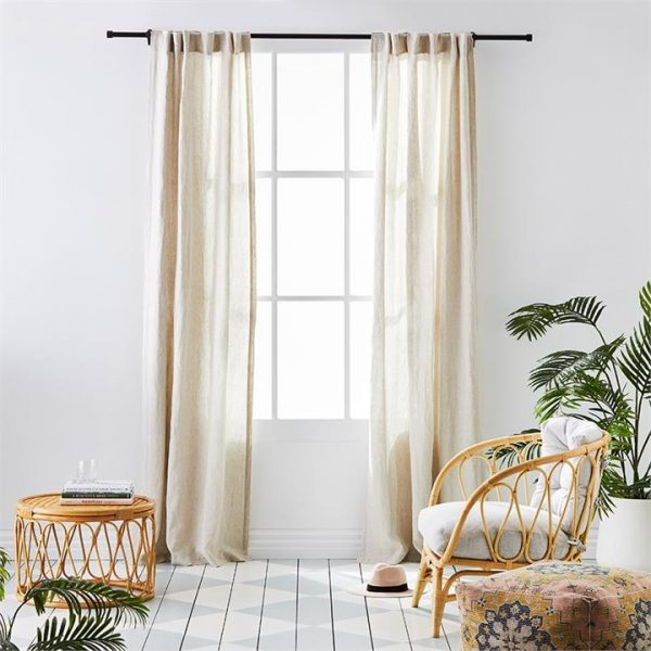 Home Republic Vintage Washed Linen Curtains W125xL270cm Linen Set of 2 By Adairs