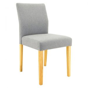 Lando Dining Chair, Natural/Pale Silver