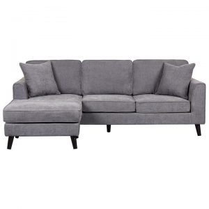 Monroe Fabric Corner Sofa, 2 Seater with Reversible Chaise, Dark Grey