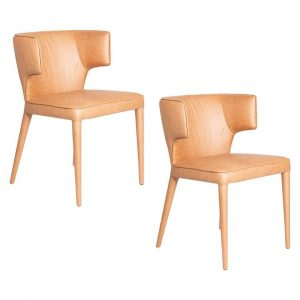 Portofino Faux Leather Dining Chair (Set of 2)