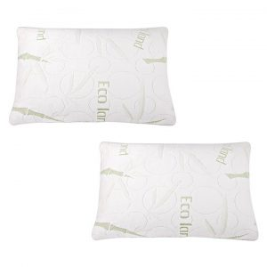 Shredded Memory Foam & Bamboo Pillow (Set of 2)