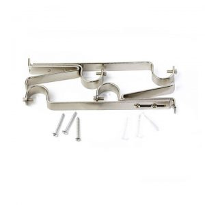 19/22mm Curtain Rod Double Brackets 2/Pack