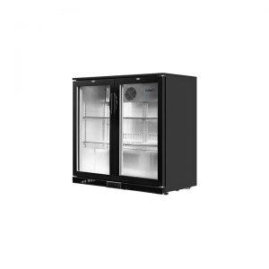 2-Door Glass Bar Fridge, Black