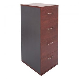 4 Drawer Filing Cabinet, Appletree/Ironstone