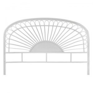 Ada Rattan Bed Head, White