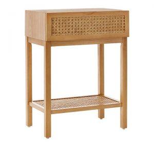 Adairs Kids Arden Bedside Table Bedside Table Natural 1 Drawer