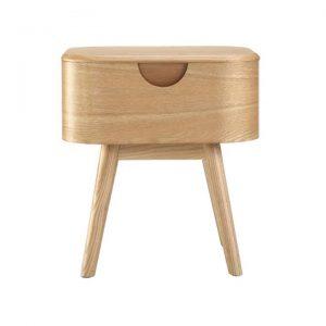 Akino Ash Wood Bedside Table