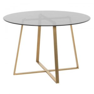 Akira Round Glass Top Dining Table