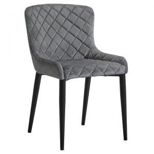 Aria Velvet Fabric Dining Chair
