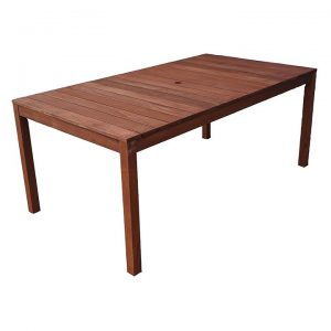 Aulay Outdoor Dining Table, Large