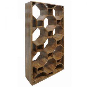 Bertram Solid Mahogany Timber Display Shelf / Room Divider