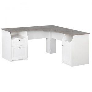 Broweville L-shape Office Desk, 160cm