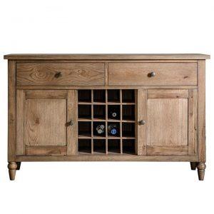 Cookham Oak Timber 2 Door 2 Drawer Sideboard, 130cm