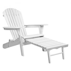Danni 2-Piece Outdoor Adirondack & Ottoman Set
