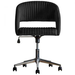 Murray Fabric Swivel Office Chair, Black Velvet