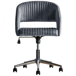 Murray Fabric Swivel Office Chair, Charcoal Velvet