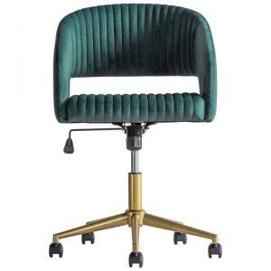 Murray Fabric Swivel Office Chair, Green Velvet