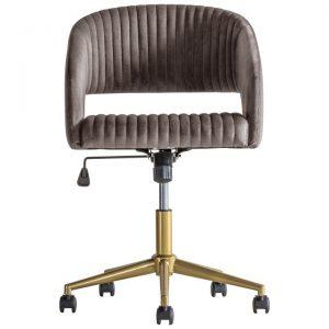 Murray Fabric Swivel Office Chair, Grey Velvet
