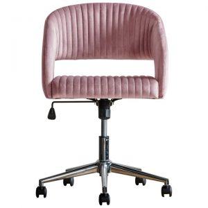 Murray Fabric Swivel Office Chair, Pink Velvet