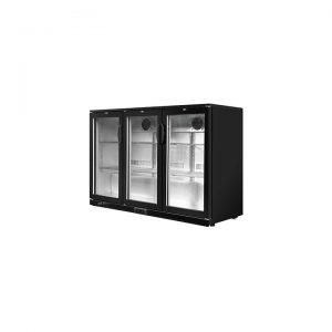 3-Door Bar Fridge, Black