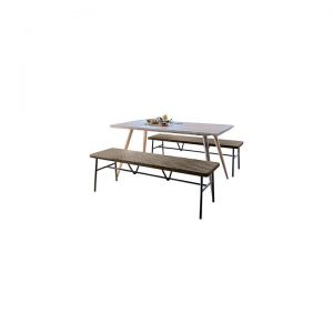 Alastair Dining Set with 2 Benches