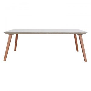 Augustine Concrete Coffee Table, Red Iron Bark