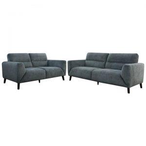 Ellison 2 Piece Fabric Sofa Set, 3+2 Seater, Charcoal