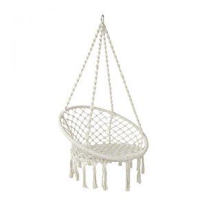 Hephae Indoor/Outdoor Hanging Chair, Cream