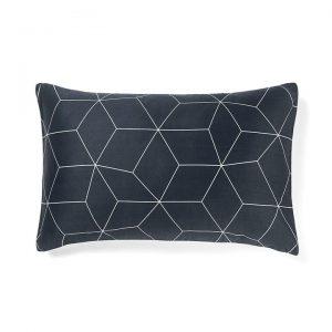 Sine Standard Pillow Case, Slate