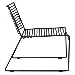Studio Wire Outdoor Lounge Chair, Black