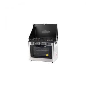 2-Burner Portable Gas Stove and Oven, Black
